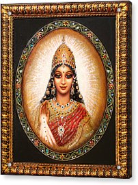 Acrylic Print featuring the painting Lakshmi Goddess Of Abundance by Ananda Vdovic