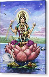 Lakshmi Goddess Of Fortune Acrylic Print