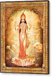 Lakshmi Goddess Of Fortune With Lighter Frame Acrylic Print
