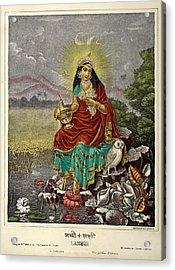 Lakshmi The Goddess Of Fortune Acrylic Print