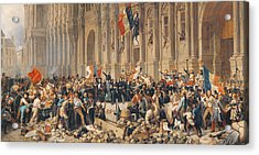 Lamartine Rejects The Red Flag In 1848 Oil On Canvas Acrylic Print