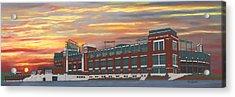 Lambeau Sunset Acrylic Print
