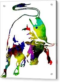 Lamborghini Bull Emblem Colorful Abstract. Acrylic Print by Eti Reid