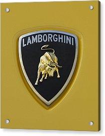 Lamborghini Emblem 2 Acrylic Print by Jill Reger