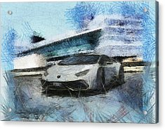 Lamborghini Huracan Acrylic Print by Mario Carini