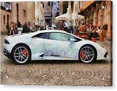 Lamborghini Huracane Lp 610-4 Parked In The City Acrylic Print