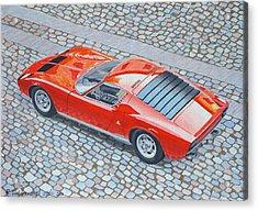 Lamborghini Miura Acrylic Print by Rimzil Galimzyanov