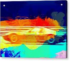 Lamborghini Miura Side 1 Acrylic Print by Naxart Studio