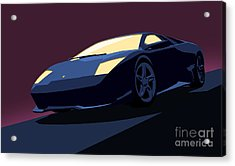 Lamborghini Murcielago - Pop Art Acrylic Print by Pixel  Chimp