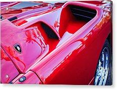 Lamborghini Side Emblem -0116c Acrylic Print by Jill Reger