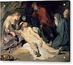 Lament Of Christ Acrylic Print by Peter Paul Rubens
