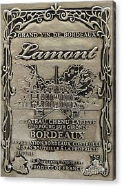 Lamont Grand Vin De Bordeaux  Acrylic Print