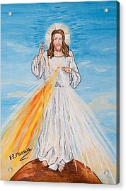 Acrylic Print featuring the painting L'amore by Loredana Messina