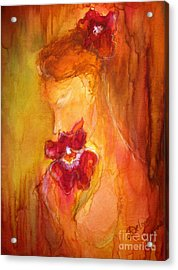 Acrylic Print featuring the painting L'amour  by Delona Seserman