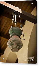 Acrylic Print featuring the photograph Lamp In Old Mosque by Mohamed Elkhamisy