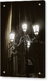Lamp Light St Mark's Square Acrylic Print