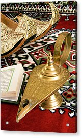 Lamp Of Aladdin, Arabic Shoes, Holy Acrylic Print