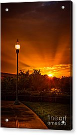 Lamp Post Sunset Acrylic Print