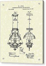 Lamp Suspender 1887 Patent Art Acrylic Print