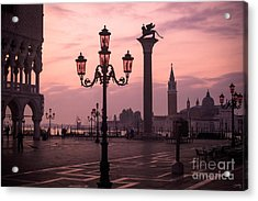Lamppost Of Venice Acrylic Print by Prints of Italy