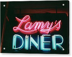 Lamys Diner Acrylic Print by Mary Bedy