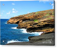 Acrylic Print featuring the photograph Lanai Lookout by Kristine Merc