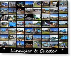 Lancaster And Chester Railway Collage Acrylic Print by Joseph C Hinson Photography