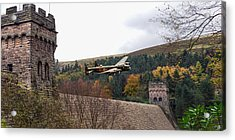 Lancaster Kc-a At The Derwent Dam Acrylic Print