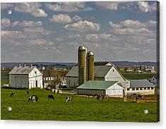 Lancaster Pennsylvania Farms Acrylic Print by Susan Candelario