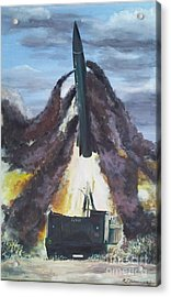 Lance Missile Launching Acrylic Print by Richard John Holden RA