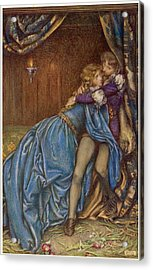 Lancelot And Guinevere  Together Acrylic Print by Mary Evans Picture Library