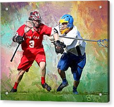 Lancers Lacrosse Acrylic Print by Scott Melby