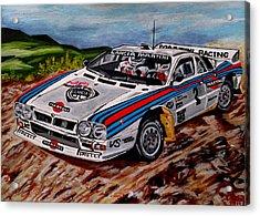 Lancia 037 Acrylic Print by Jose Mendez