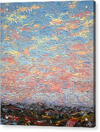 Land And Sky 3 Acrylic Print by James W Johnson