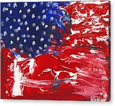 Land Of Liberty Acrylic Print by Luz Elena Aponte