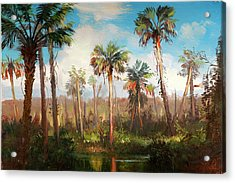 Land Of The Seminole Acrylic Print by Keith Gunderson