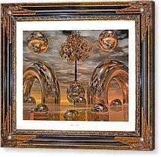 Land Of World 8624042 Framed Acrylic Print by Betsy Knapp