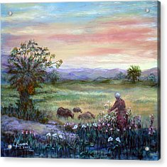 Acrylic Print featuring the painting In The Farme  by Laila Awad Jamaleldin