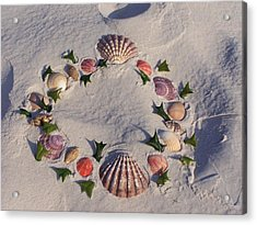 Land  Sea Weath Acrylic Print by Michele Kaiser