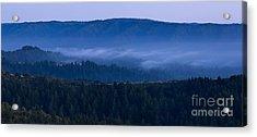 Land Spray In Russian Ridge Acrylic Print by Matt Tilghman