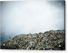 Landfill Acrylic Print by Matthew Oldfield
