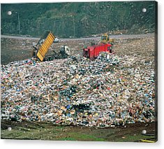 Landfill Site In Leicestershire Acrylic Print