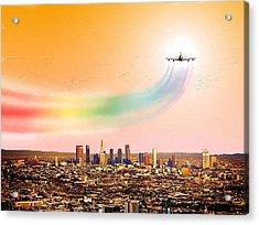 Landing At Lax International Airport Acrylic Print