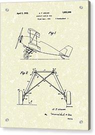 Landing Gear 1932 Patent Art Acrylic Print