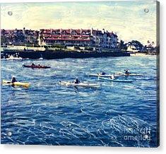 Landing Kayaking Acrylic Print