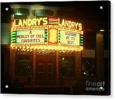 Landry's Seafood In Lomoish Acrylic Print