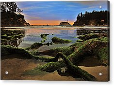 Lands End Acrylic Print by Benjamin Yeager