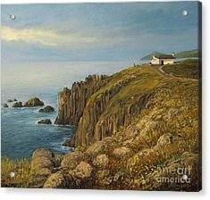 Land's End In Cornwall Acrylic Print by Kiril Stanchev
