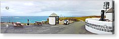Lands End Panoramic Acrylic Print by Linsey Williams