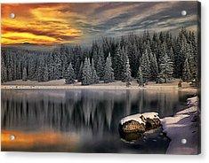 Landscape Art Acrylic Print by Digital Art Cafe